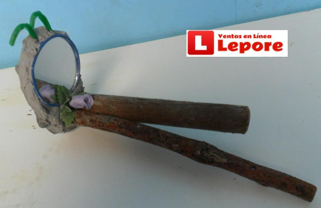 Reposadero con Espejo para tu mascota canario perico agapornis colgante