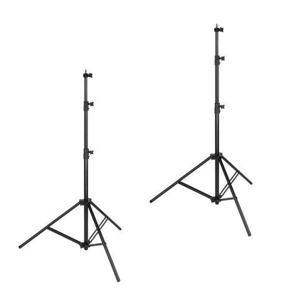 2 Tripode Stand Luz 1.90 Mts Para Estudio Fotografico