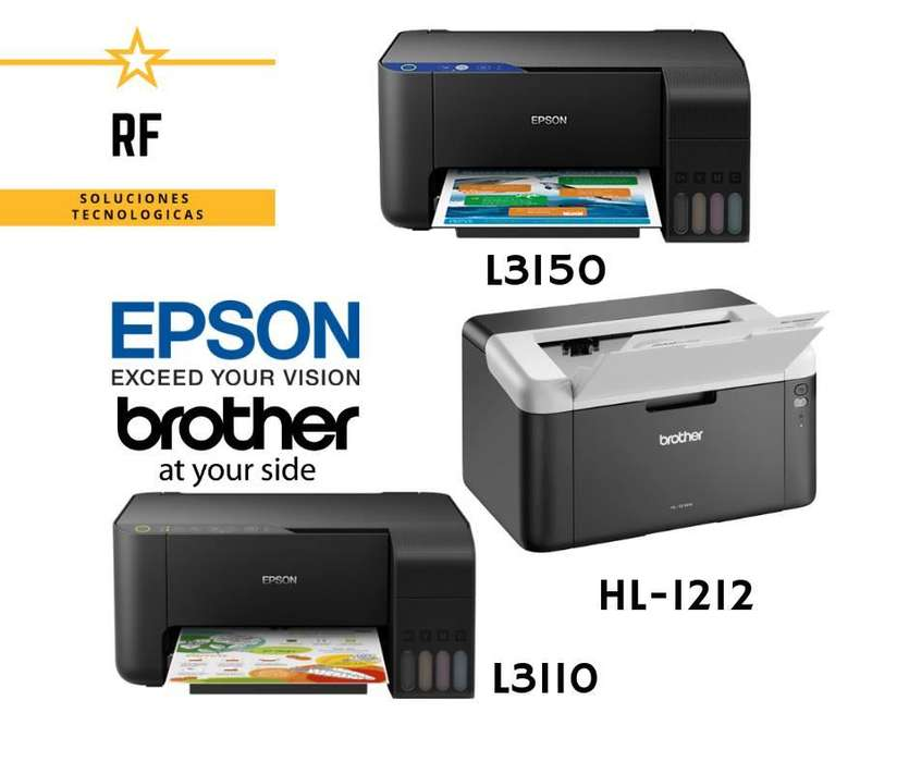 Impresoras varios modelos, con garantía y entrega a domicilio. Precios publicados