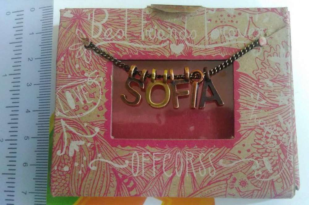 Collar de letras dije personalizable perfecto regalo NUEVO en caja sellada