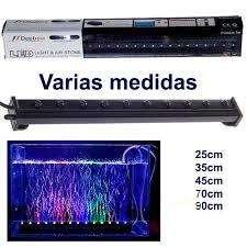 Lámparas para acuario de luz LED multicolor sumergible con sistema de oxigenación marca Deebow NUEVAS