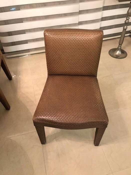 <strong>silla</strong>s de comedor muy cómodas en cuerina x6 unidades