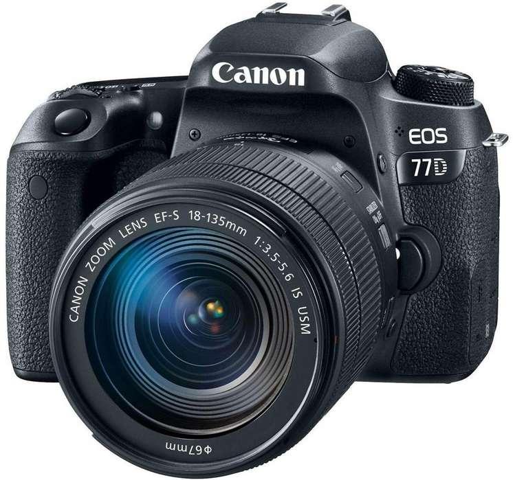 Camara Canon Eos77d Lente Ef 18 135