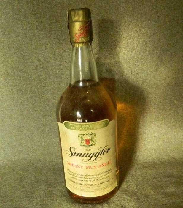 Whisky Old Smuggler etiqueta blanca 1964