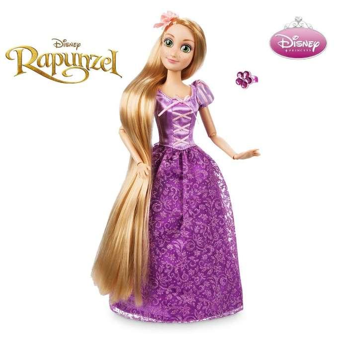 Muñeca Rapunzel Enredado ARTICULABLE DE 28 CM, MARCA DISNEY