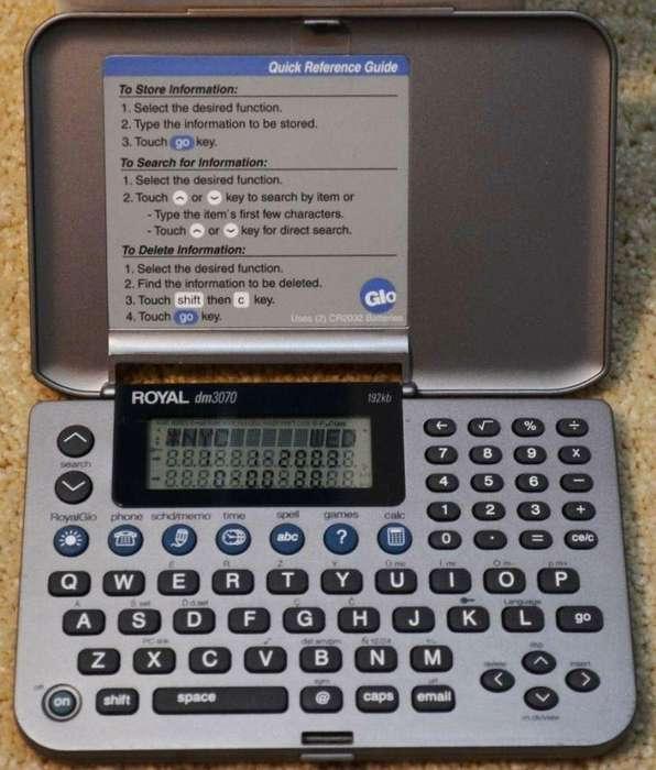 Asistente Digital Personal Pda Royal Dm3070 Calculadora Agenda Juegos Hora Mundial Corrector ortográfico ... Permuto