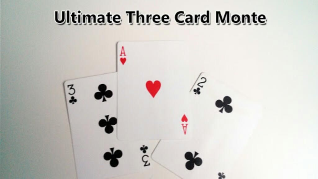 3 Card Monte Magia Bicycle Gaff Card
