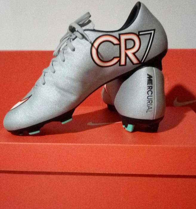 Nike Mercurial Victory V CR7 FG Silverware/ Plateado Blanco Turquesa Negro