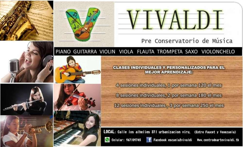 piano saxo trompeta violin viola flauta traversa clases de musica
