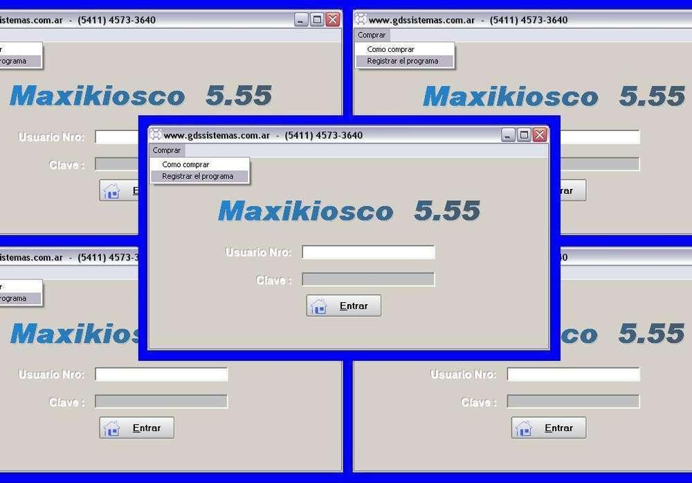 ºº Programa de gestión para kiosco º'' MAXIKIOSCO 5.55 ''º <strong>software</strong> GDS Sistemas