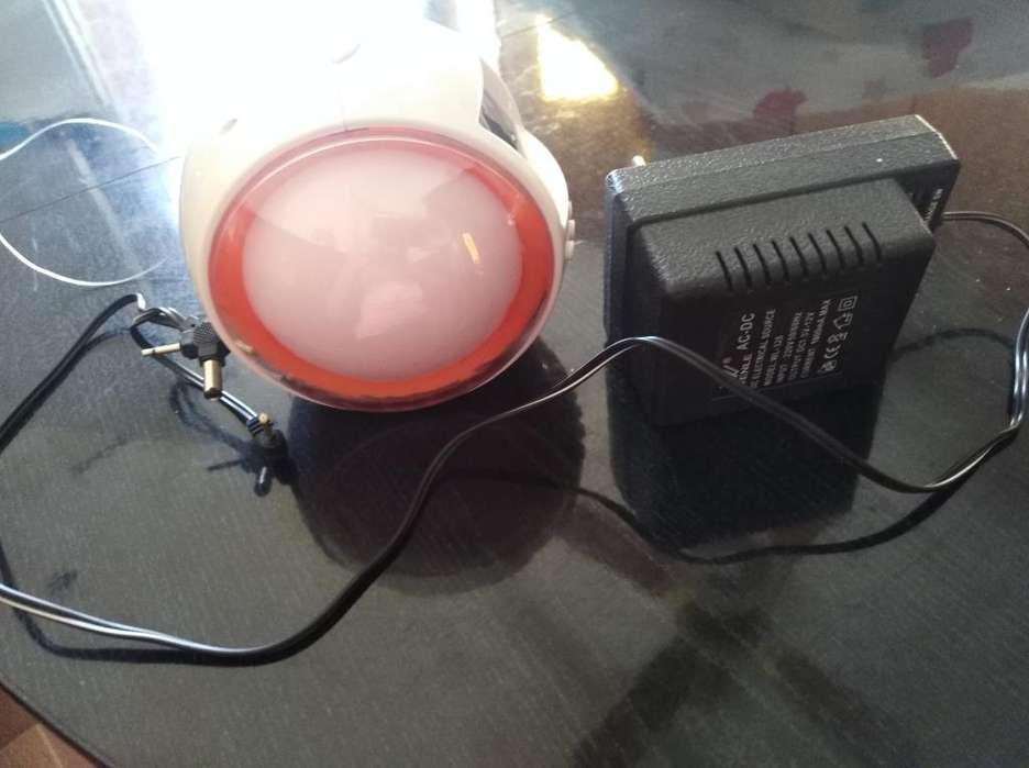 Radio Reloj con Luces