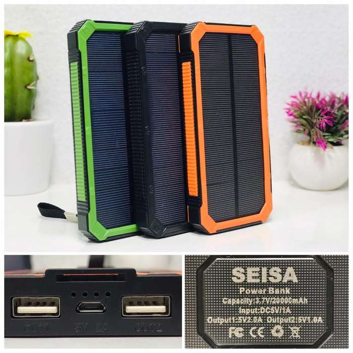 Cargador portátil con Panel Solar 20mil mah Reales