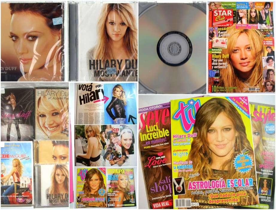 Hilary Duff Colección Cds Dvds, Pelis, Revistas Liquido Todo