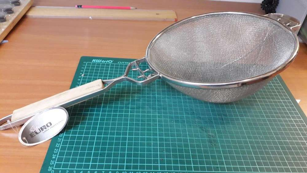 Colador industrial doble malla 35 cm