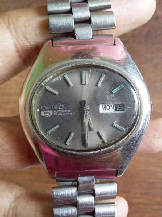 Reloj <strong>seiko</strong> 5 doble fecha hermético 17 Jewels funcionando al 100%