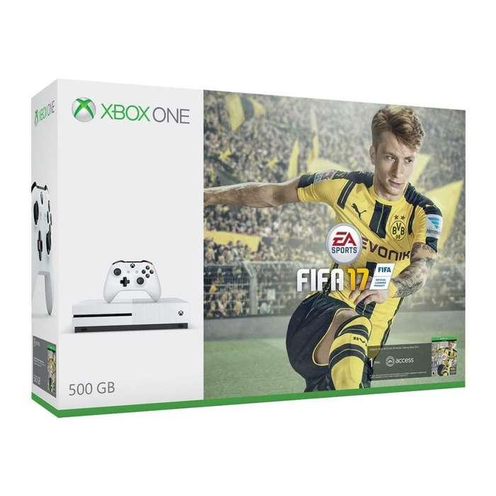 Nuevo Consola Xbox One S, blanca, 500GB Un Control, WiFi 4K HDR