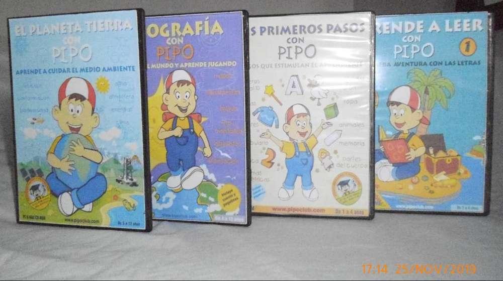 Juegos Y Videos Para Niños Juega Y Aprende Con Pipo En Cd Rom Libros Cds Dvds 907262862