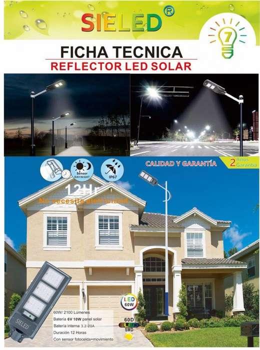 Reflector Alumbrado Pblico Led Solar 100watts hasta 120watts