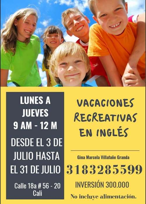 Vacaciones Recreativas en Inglés