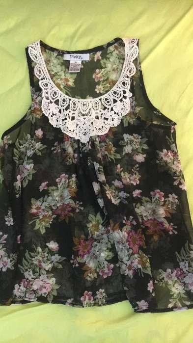 Blusa Floral Americana Talla M