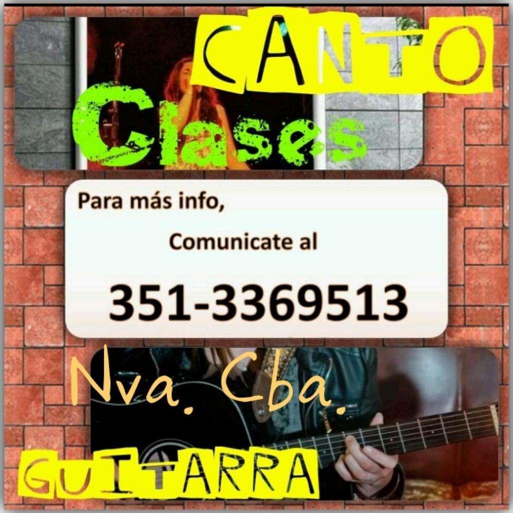 Clases de Canto Y/o Guitarra. Nva Cba.
