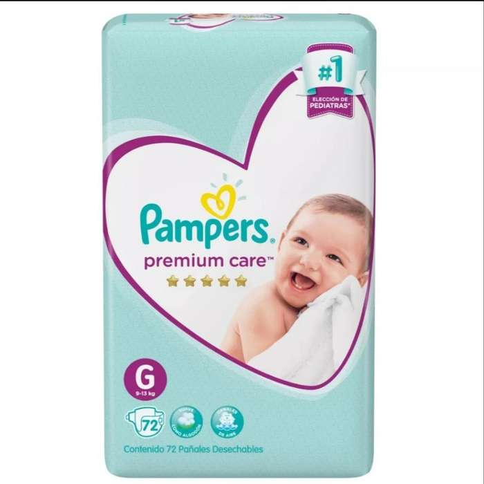 Pañales Pampers Premium Talle G