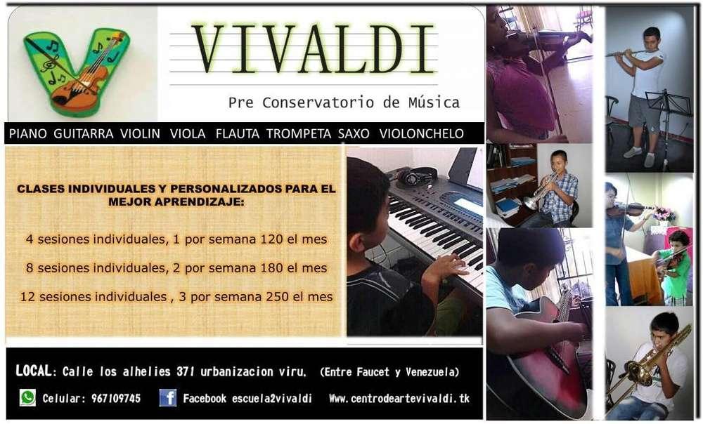 saxo guitarra violonchelo piano trompeta violin clases de musica
