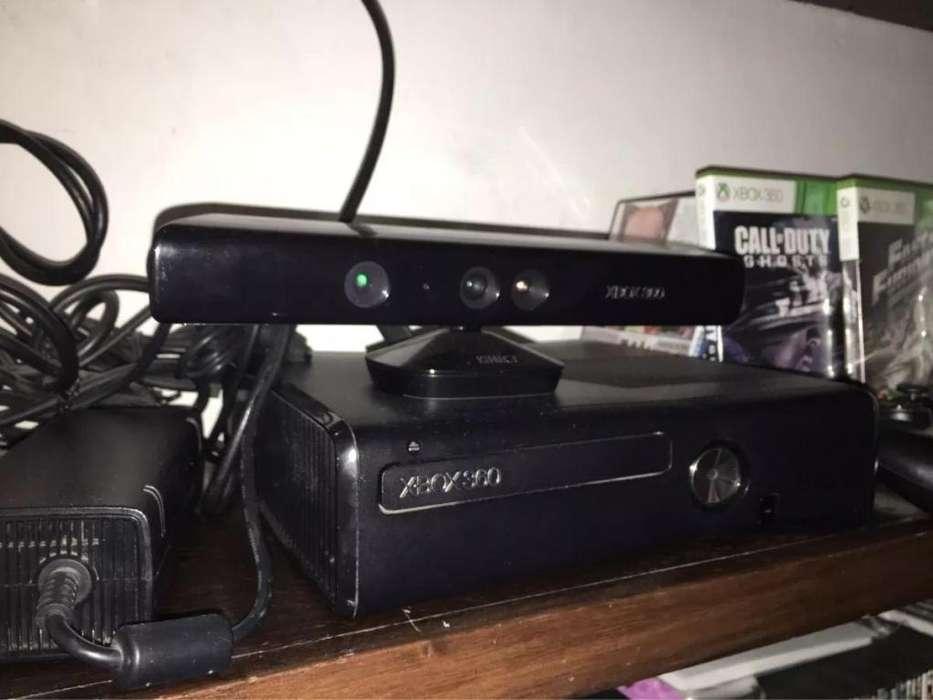 Xbox360 Con Un Control Y Kinetic 4 Juegos