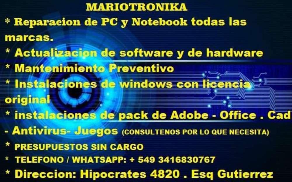 Reparaccion de Pc Y Notebook Mariotronik