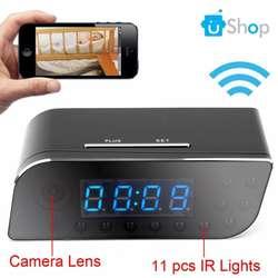 W30 Cámara Reloj Digital de Mesa Wifi Espía S.movim V.noctu 1080p FullHD