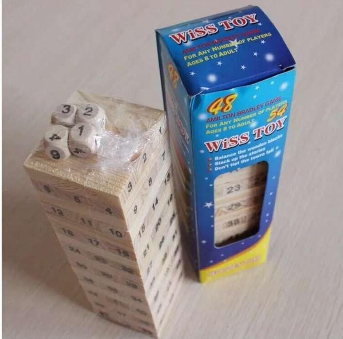Jenga de Madera X 54uni con # - Wiss Toy