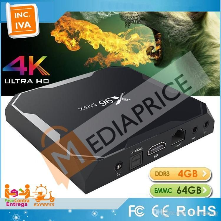 TV Box X96 Max 4GB 32GB Android 8 Bluetooth S905X2