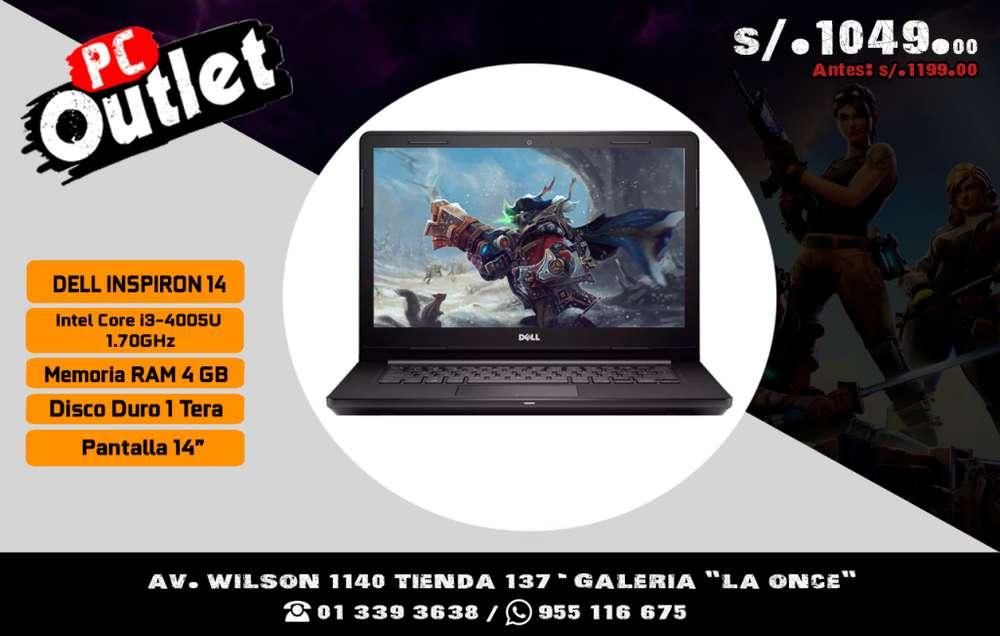 laptop DELL INSPIRON Intel Core i3 4005U 1.70GHz