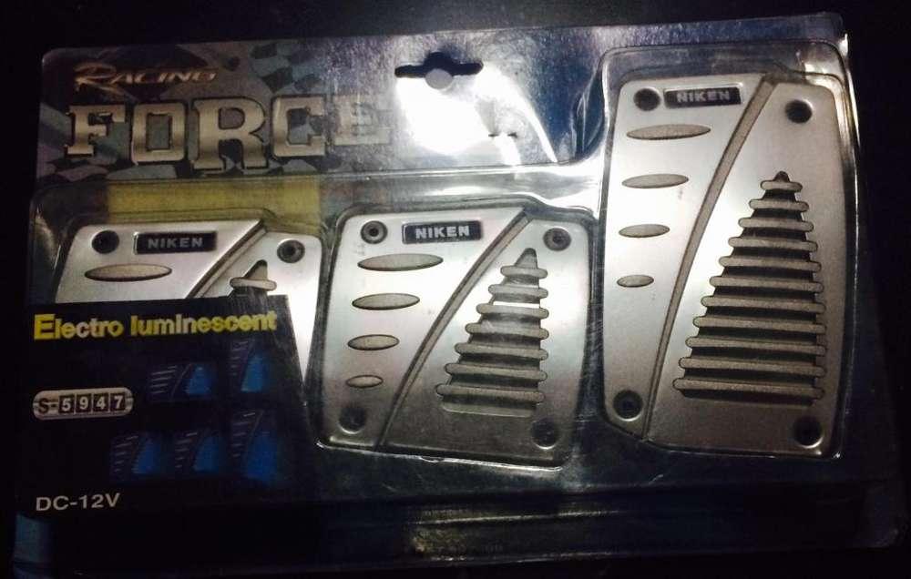 pedaleras <strong>tunning</strong> neon color azul son de aluminio !!!