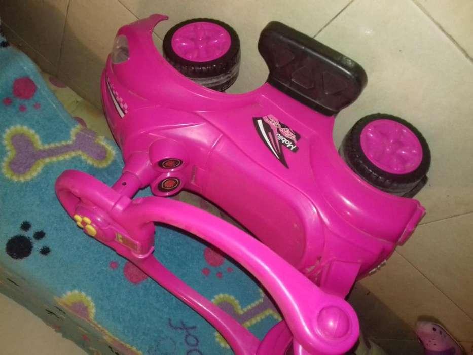 carrito para bebe rosado