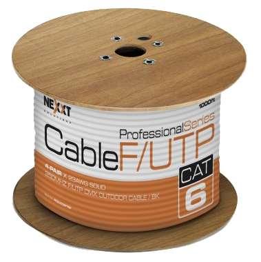 Bobina cable para exteriores F/UTP CAT 6 NEXXT