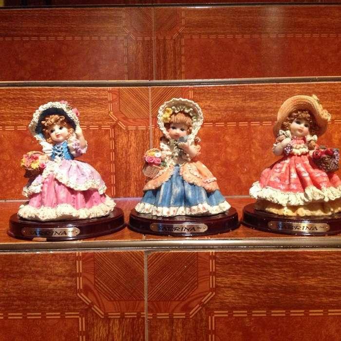 Muñecas en porcelana coleccion antiguedad