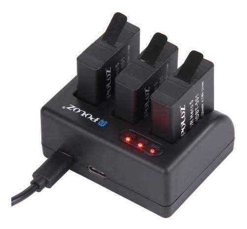 Cargador Batería Gopro 3 Canales Con Puerto Micro Usb - C