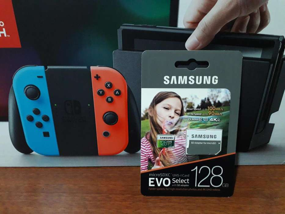 Nintendo Switch Nueva Y Programable. Se Entrega Programada con Micro sd de 128gb.