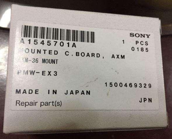 Sony PMWEX3 EX3 Replacement Part AXM36 Board XLR A1545701A A1545701A nuevo