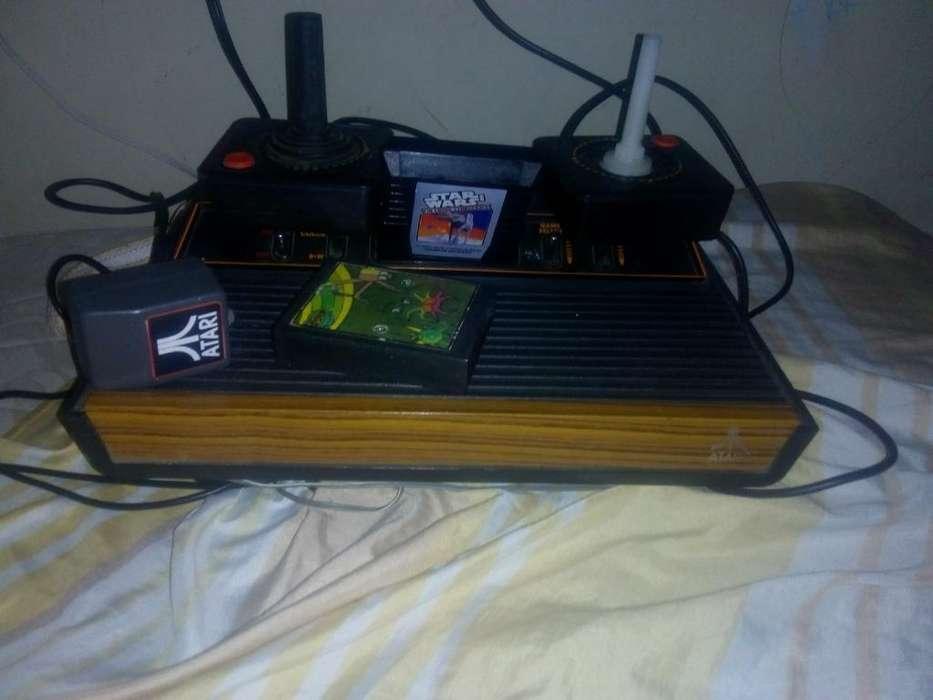 Vendo Atari Original Bueno Completo