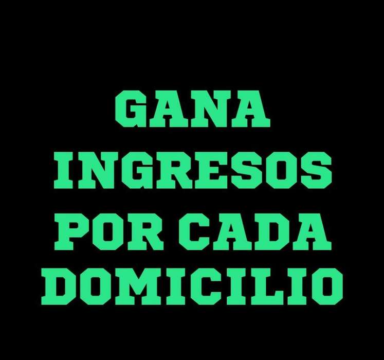 Repartidor Independiente Domicilios
