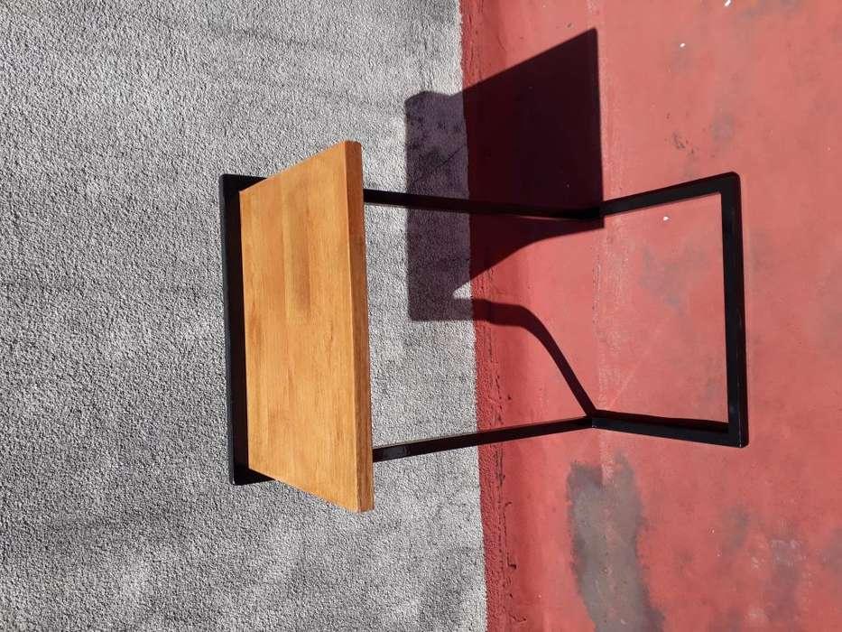 Mesa De Arrime Mesa Para Sillón Mueble Estilo Industrial