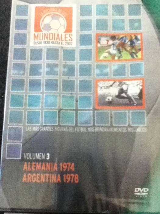 Mundiales desde 1930 hasta 2002 En dvd originales, impecables !!