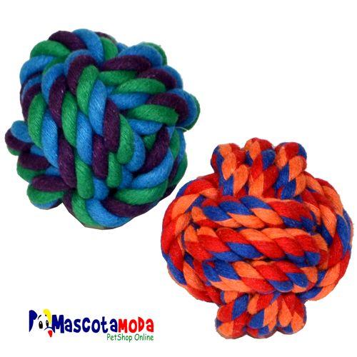Pelotas en cuerda de algodon perfectas para cachorros juguete