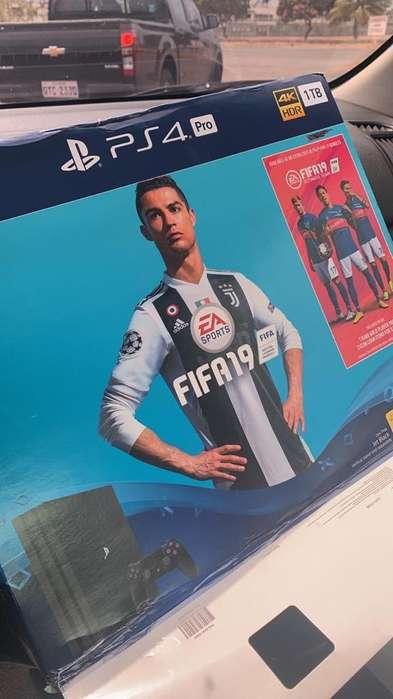 Playstation 4 Pro 1Tb 2 Palancas Fifa 19