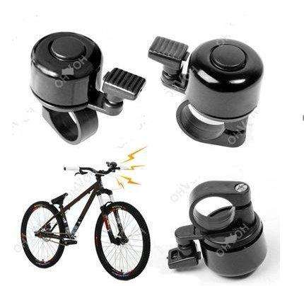 Timbre Metalico Alarma para Bicicleta, color negro.