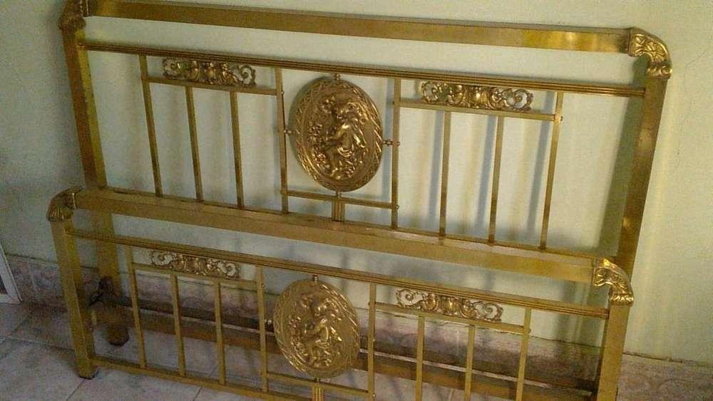 <strong>cama</strong> 2 plazas bronce