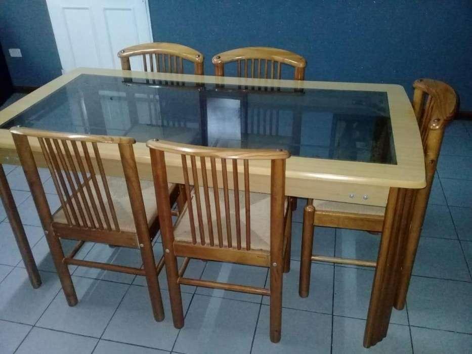 JGO Comedor madera y vidrio