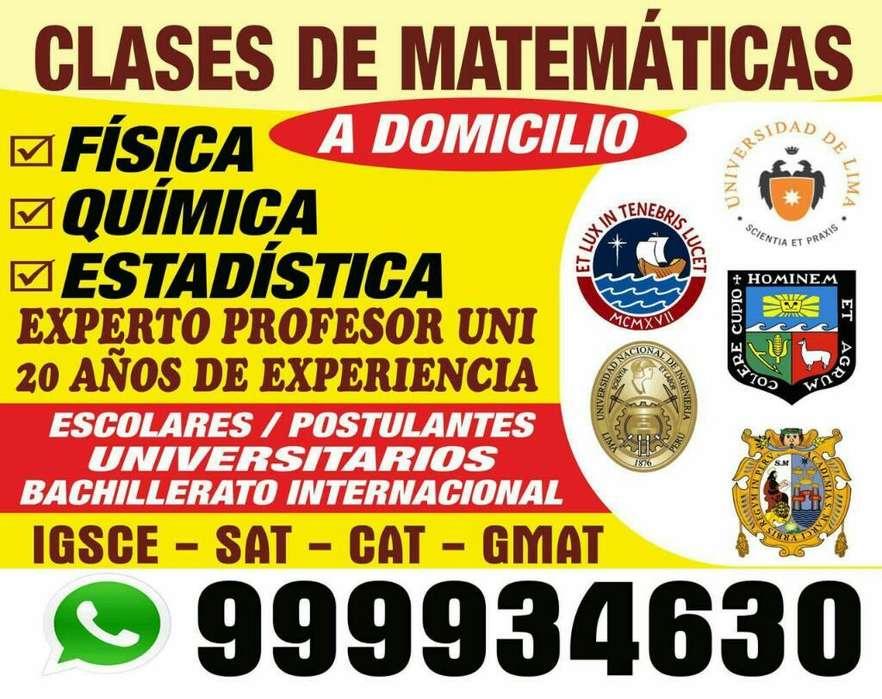 Asesoria Matemática Al Mas Alto Nivel Incluso desde Cero Dictado por Experto Prof. Uni .